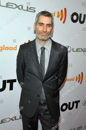 OUT Magazine Editor in Chief Aaron Hicklin arrives at OUT Magazine's 20th Anniversary Party presented by Lexus at Station at W Hotel on in Los Angeles