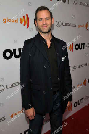 Stock Picture of Matthew Breen, Editor in Chief of the Advocate, arrives at OUT Magazine's 20th Anniversary Party presented by Lexus at Station at W Hotel on in Los Angeles