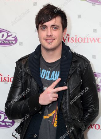 Will Anderson of the rock-band Parachute visits radio station Q102 iHeartradio Performance Theater, in Philadelphia