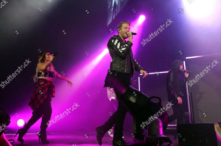 Scott Hoying, Mitchell Grassi, Kirstin Maldonado, Avi Kaplan and Kevin Olusola with Pentatonix performs at the Infinite Energy Arena, in Atlanta