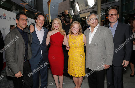 """Director and Co-Writer Zal Batmanglij, Producer Michael Costigan, President of Fox Searchlight Nancy Utley, President of Fox Searchlight Steve Gilula and Producer Michael Costigan attend the LA premiere of Fox Searchlight Pictures' """"The East"""" presented by Piaget at the ArcLight Hollywood, in Los Angeles"""