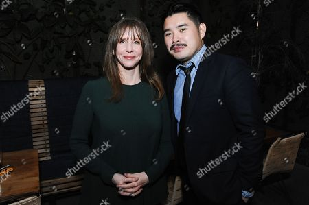 "Stock Image of Actress Laraine Newman, left, and director Bao Nguyen attend the after party for the Los Angeles Premiere Of ""Live from New York!"" at Hinoki & the Bird, in Los Angeles"