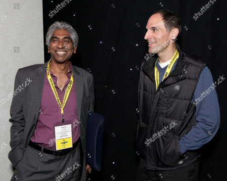 Chairman& CEO Hyde Park Entertainment Ashok Amritraj and President & CCO of Legendary Pictures Jon Jashni attend the Produced By Conference Day 1 on in Culver City, Calif