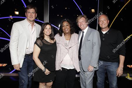 Bill Lawrence, SallyAnn Salsano, Shonda Rhimes, Nigel Lythgoe, and Rob Kenneally attend the Produced By Conference Day 1 on in Culver City, Calif