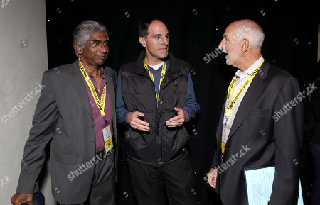 Chairman& CEO Hyde Park Entertainment Ashok Amritraj, President & CCO of Legendary Pictures Jon Jashni and Co-Chairman PGA International Committee William Stuart attend the Produced By Conference Day 1 on in Culver City, Calif