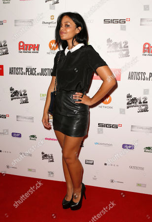 Fefe Dobson attends the Producers Ball 2012 at the Shangri-La Toronto, in Toronto, Canada