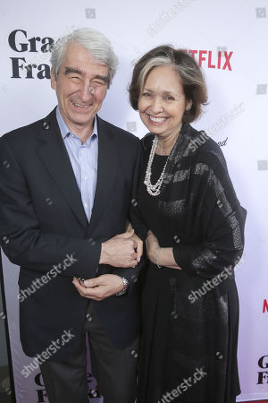 "Sam Waterston and Lynn Louisa Woodruff seen at Season Two Premiere of Netflix original series ""Grace and Frankie"", in Los Angeles, CA"