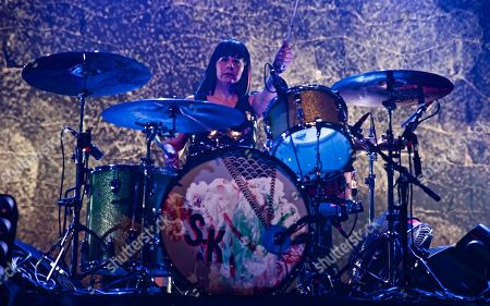 Sleater-Kinney seen in concert at Terminal 5, in New York Janet Weiss (drums