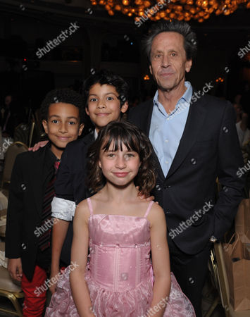 "Tyree Brown, Xolo Mariduena, Brian Grazer, Savannah Paige Rae, front, attend the VIP reception at the Academy of Television Arts & Sciences Presents ""The 6th Annual Television Honors"" at the Beverly Hills Hotel on in Beverly Hills, Calif"