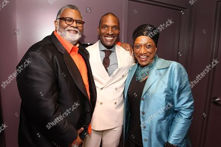 Alexander Smalls, Noah Stewart and Jessye Norman attend a special performance of Noah Stewart at Minton's presented bye Hennessy Privilege on in New York