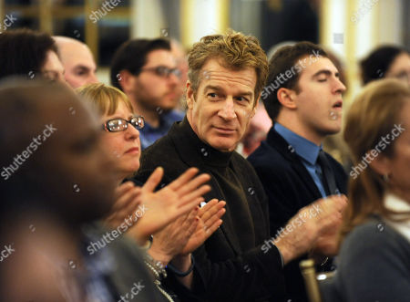 Actor Kevin Kilner, center, listens to The Business of Voice-Over panel discussion hosted by the Television Academy for its East Coast members and National Television Academy members, at the St. Regis Hotel in New York
