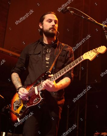 Alex Rosamilia of the band The Gaslight Anthem performs in concert during their Get Hurt Tour 2015 at Rams Head Live, in Baltimore