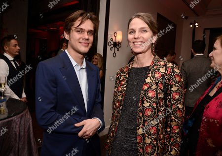 Ellar Coltrane, left, and Torill Kove attend The Hollywood Reporter Nominees Night presented by Cadillac, with Delta, Roberto Coin, and Neiman Marcus Beverly Hills at Spago on Mon., in Beverly Hills, Calif