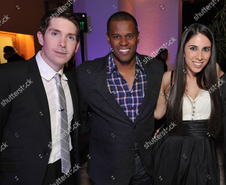 From left, Nils Larsen, Brian Dobbins and Melissa Manfro Fox attend The Hollywood Reporter Next Gen 20th Anniversary Gala Celebration sponsored by Samsung Galaxy, MR PORTER.COM, Delta, Ketel One and Amazon Studios, on in Los Angeles