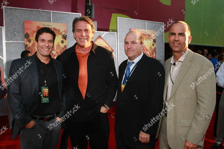 """SEPTEMBER 18: Disney's Oren Aviv, Director Raja Gosnell, Producer John Jacobs and Disney's Mark Zoradi at the World Premiere of Walt Disney Pictures' """"Beverly Hills Chihuahua"""" on at the El Capitan Theatre in Los Angeles, CA"""