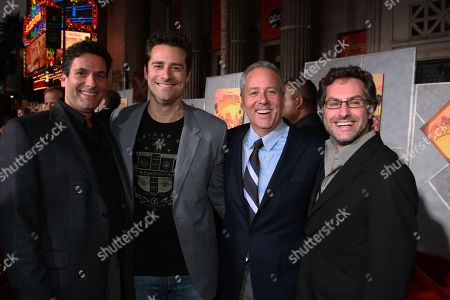 """SEPTEMBER 18: Disney's Oren Aviv, Producer Todd Lieberman, Producer John Jacobs and Disney's Jason Reed at the World Premiere of Walt Disney Pictures' """"Beverly Hills Chihuahua"""" on at the El Capitan Theatre in Los Angeles, CA"""
