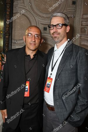"""OCTOBER 07: Co-Producer/Editor Paul Crowder and Director/Co-Writer Mark Monroe at The World Premiere of Walt Disney Pictures' """"Morning Light"""" on at the El Capitan Theatre in Hollywood, CA"""