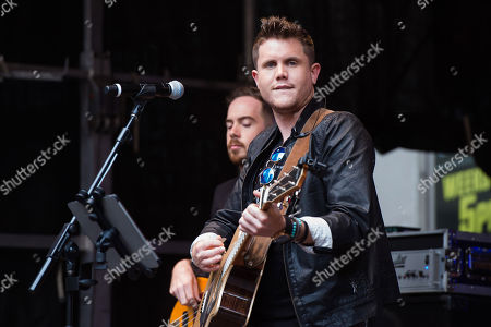 """Trent Harmon performs on Fox News Channel's """"Fox & Friends"""" show, in New York"""