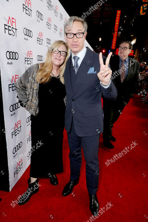 """Laurie Karon and Paul Feig seen at Twentieth Century Fox's """"Rules Don't Apply"""" World Premiere Gala Opening Night Gala Screening at AFI FEST 2016, in Los Angeles"""