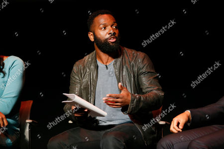 Moderator Baratunde Thurston participates in the Television Academy's UNLOCK OUR POTENTIAL member event at the Academy's Wolf Theater and Saban Media center on in Los Angeles