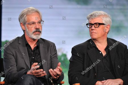 Producers Peter Mattei and Peter Tolan seen at WGN America Winter TCA 2016 at The Langham Huntington Hotel on in Pasadena, CA