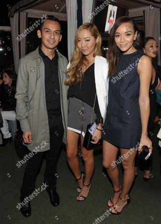 """From right, Ashley Madekwe, Dani Song and a guest attend Who What Wear + Cadillac """"Style Driven: 50 Most Stylish"""" with host Nicole Richie at The London West Hollywood hotel, in West Hollywood, Calif"""
