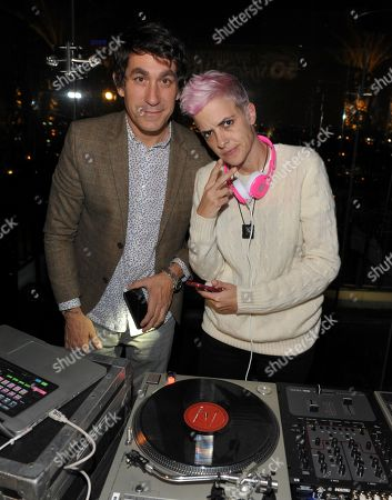 """Samantha Ronson, right, and Brent Bolthouse attend Who What Wear + Cadillac """"Style Driven: 50 Most Stylish"""" with host Nicole Richie at The London West Hollywood hotel, in West Hollywood, Calif"""