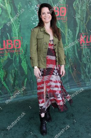 """Holly Marie Combs attends the premiere of """"Kubo and the Two Strings"""" at Universal City Walk, in Universal City, Calif"""
