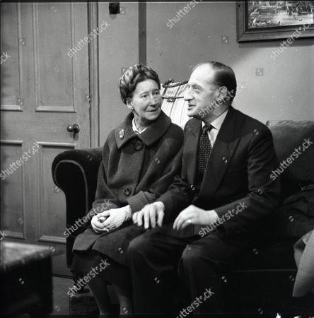Stock Image of Beatrice Varley (as Mrs Stark) and John Barrett (as Mr Stark)