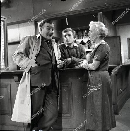 Robin Wentworth (as Arthur Dewhurst), Kenneth Farrington (as Billy Walker) and Doris Speed (as Annie Walker)