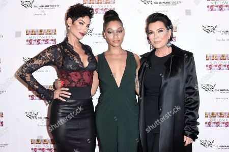 """Stock Photo of Nicole Murphy, Bria Murphy, Kris Jenner attend """"SUBCONSCIOUS"""" by Bria Murphy Gallery Opening at Lace Gallery, in Los Angeles"""