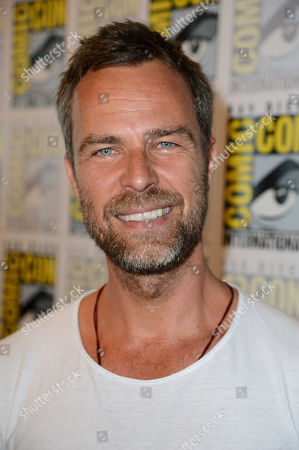 """JR Bourne attends the """"Teen Wolf"""" press room at Comic Con on in San Diego"""