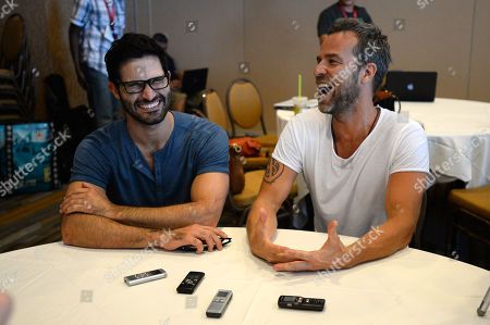"""Tyler Hoechlin and JR Bourne attend the """"Teen Wolf"""" press room at Comic Con on in San Diego"""