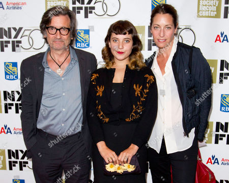 "SEPTEMBER 30: Griffin Dunne, Hannah Dunne and Anna Bingemann attend the premiere of ""Frances Ha"" during the 50th annual New York Film Festival at Alice Tully Hall on in New York"