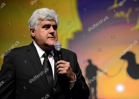 Jay Leno attends the 10th annual Alfred Mann Foundation Gala, in Beverly Hills, Calif
