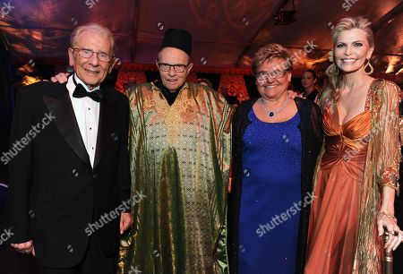 From left, Alfred Mann, Larry King, Claudia Mann and Shawn King attend the 10th annual Alfred Mann Foundation Gala, in Beverly Hills, Calif
