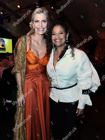 Shawn King, left, and Debbie Allen attend the 10th annual Alfred Mann Foundation Gala, in Beverly Hills, Calif
