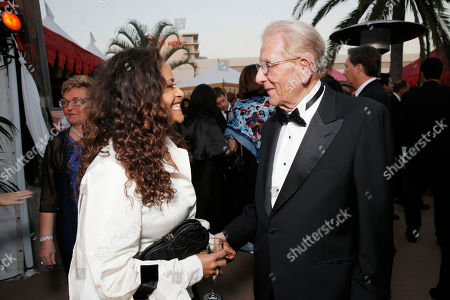 Debbie Allen, left, and Alfred Mann attend the 10th annual Alfred Mann Foundation Gala, in Beverly Hills, Calif