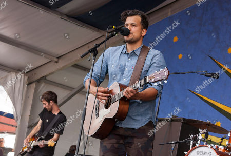 Abner Ramirez of Johnnyswim with touring band perform at the New Orleans Jazz and Heritage Festival in New Orleans on