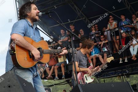 Jeff Tweedy, John Stirratt (L-R) and Wilco performs at the 2014 Lockn' Festival, in Arrington, Virginia