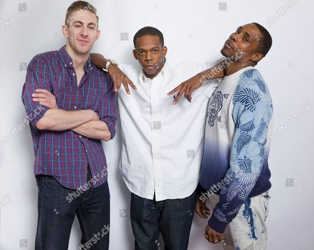 """Stock Picture of Brian Kowalski, from left, George Sample III and Zurich Buckner pose for a portrait to promote the film, """"Da Sweet Blood of Jesus"""", at the Eddie Bauer Adventure House during the Sundance Film Festival, in Park City, Utah"""
