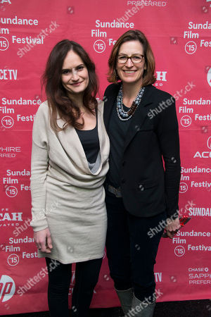 """Stock Image of Co-producer Gina Papabeis and producer Olivia Ahnemann John Behrens attend the premiere of """"Racing Extinction"""" during the 2015 Sundance Film Festival, in Park City, Utah"""