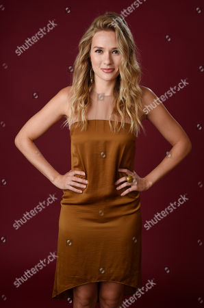 """Tori Anderson, a cast member in The CW series """"No Tomorrow,"""" poses for a portrait during the 2016 Television Critics Association Summer Press Tour at the Beverly Hilton, in Beverly Hills, Calif"""