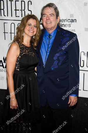Laura Savini and Jimmy Webb attend the Songwriters Hall of Fame 44th annual induction and awards gala on in New York
