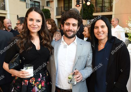 Yara Martinez, from left, Joe Lewis and Andrea Sperling attend the 8th annual Television Academy Honors at the Montage hotel, in Beverly Hills, Calif