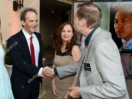 Stock Image of Nick Doob, from left, Shari Cookson and Maury McIntyre, Television Academy President & COO, attend the 8th annual Television Academy Honors at the Montage hotel, in Beverly Hills, Calif