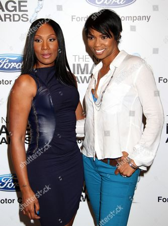 Actors Tawanda Braxton and Vanessa A. Williams attend 9th Annual NAACP Hollywood Bureau Symposium Sponsored by Ford Motor Company at Museum of Tolerance, in Los Angeles