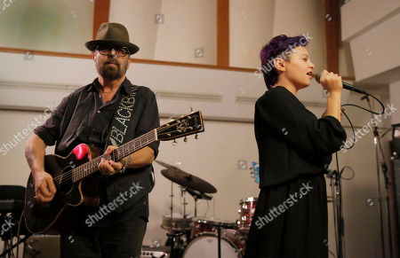 Dave Stewart and Kaya Stewart perform at A Night for Jolie Levine Sponsored by Lupus LA & Sweet Relief Musicians Fund, at Henson Studios on Friday, May, 31, 2013 in Los Angeles