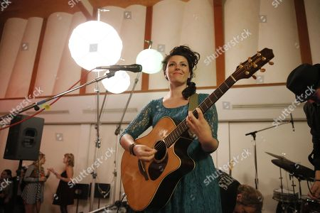 Stock Image of Carina Round performs at A Night for Jolie Levine Sponsored by Lupus LA & Sweet Relief Musicians Fund, at Henson Studios on Friday, May, 31, 2013 in Los Angeles