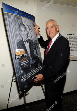 "Stock Image of OCTOBER 13: Writer Bill Persky attends the Academy of Television Arts & Sciences Presents: ""An Evening Honoring Carl Reiner"" at the Leonard H. Goldenson Theatre on in North Hollywood, California"